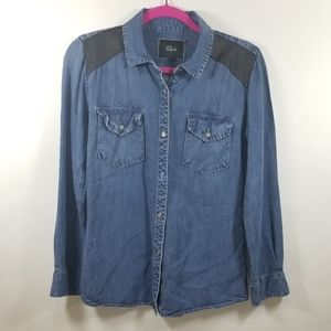 Rails Ashlyn Denim Button Down Shirt size XS